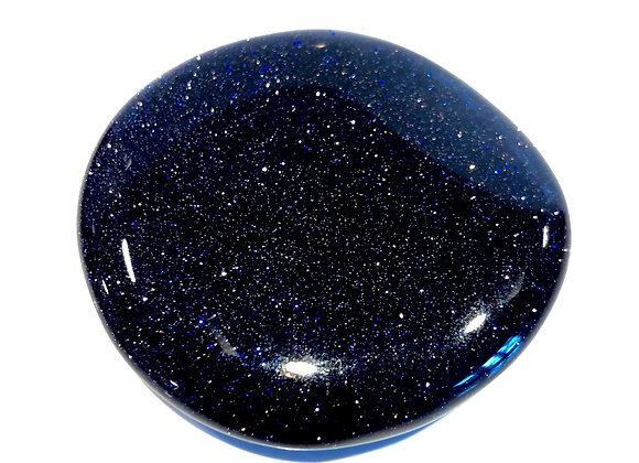 Blue Starstone Palm Stone