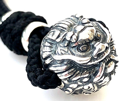 Sterling Silver Dragon Head Pendant