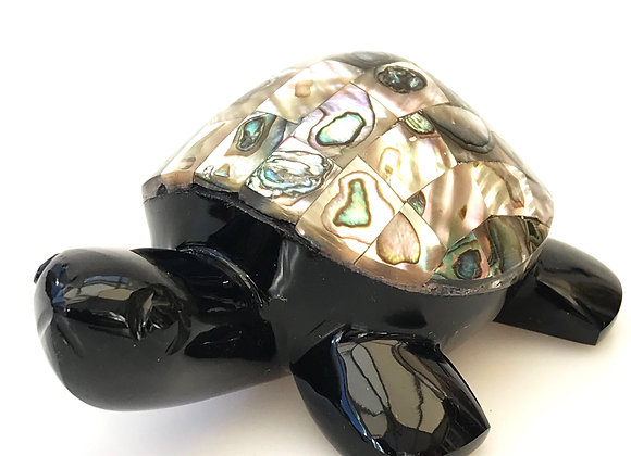 Obsidian & Abalone Large Turtle Male