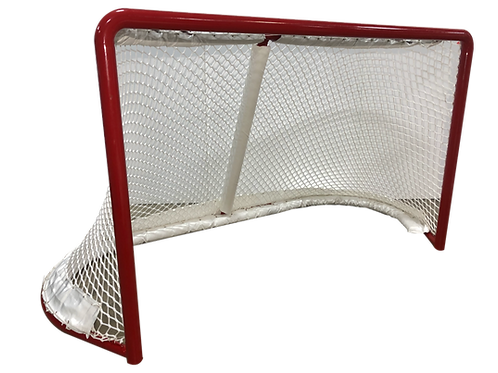 Hockey Goal Frame With Assembled Net, Pads, and Protector Skirt (Pair)