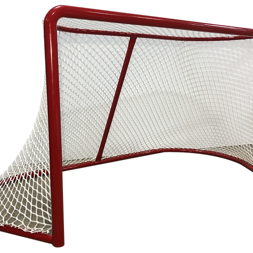 Hockey Goal Frame With Assembled Net (Pair)