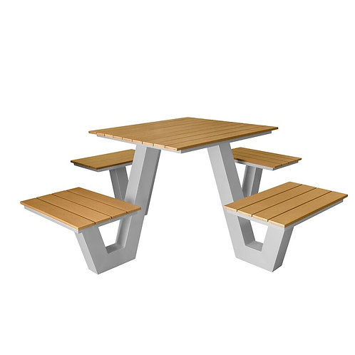 Aluminum Square Picnic Table