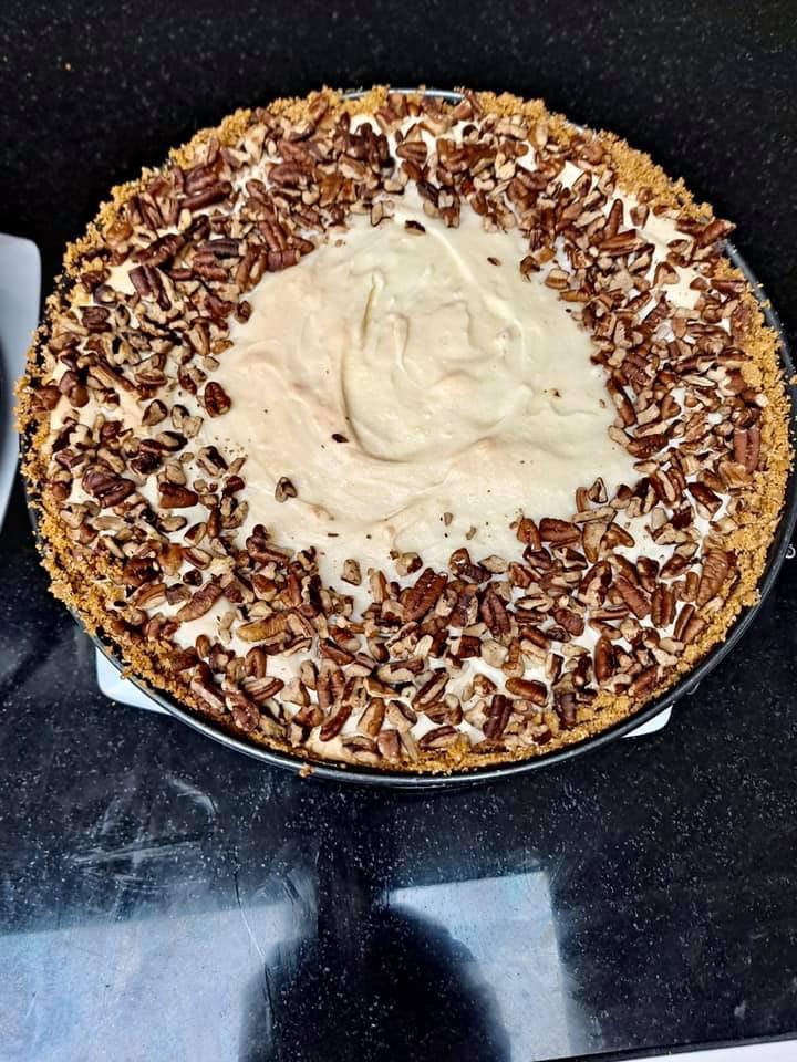 White Chocolate Pecan Cheesecake