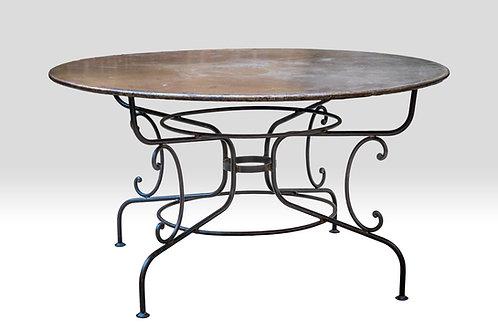 Table De Jardin En Fer Forgé Ancien 140 cm
