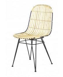 Rotin et métal Chaise