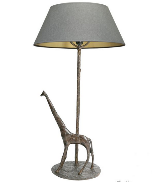 Lampe GIRAFE bronze