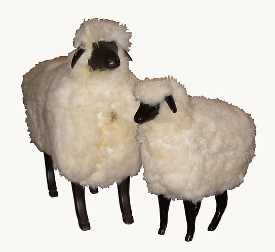 Mouton BOIS et TOISON NATURELLE