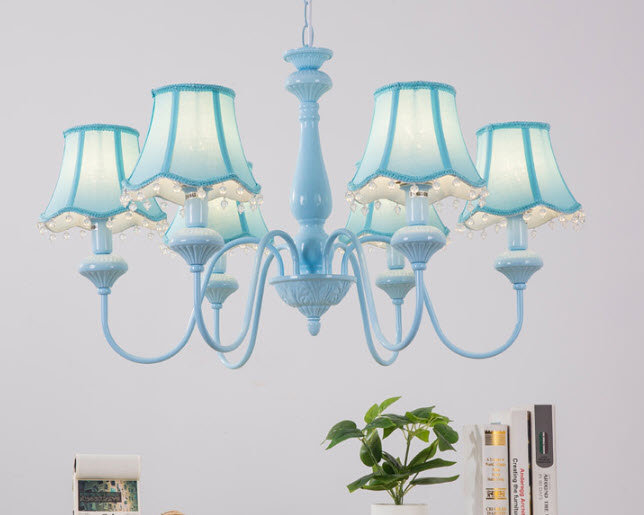 Simple Blue Chandelier (PO23)