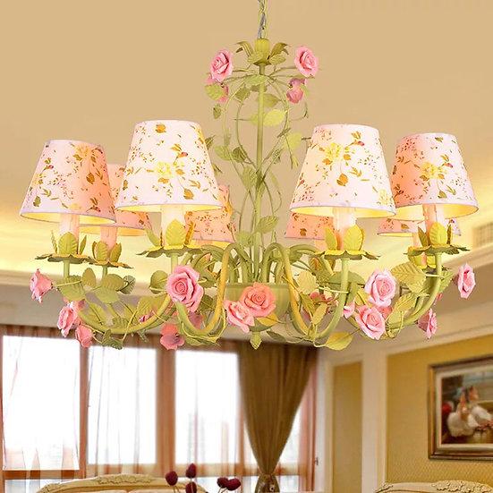 Shabby Green Lamp (PO69)