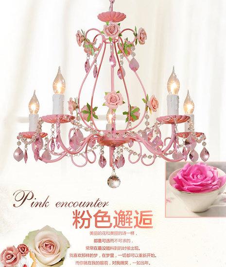 Pink Rose Chandelier (PO07)