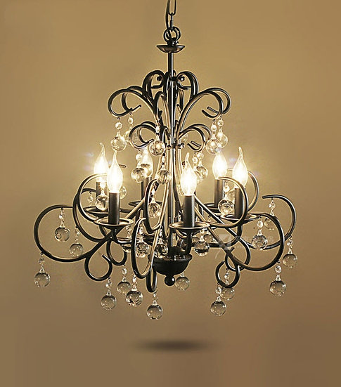 Qailah Black Chandelier (PO377)