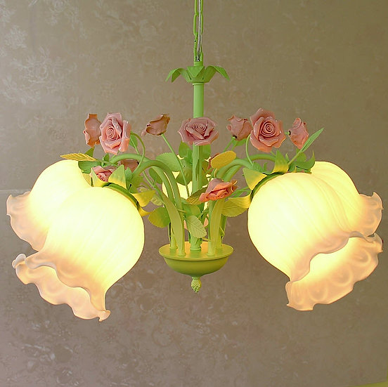 Shabby Chic Hanging Lamp (PO280)