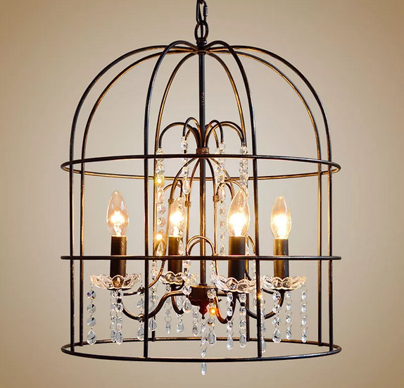 Shabby cage lamp (PO291)