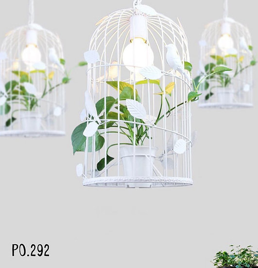 Shabby cage lamp (PP292)
