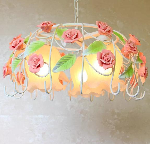 Hanging Lamp Bow Rose (PO299)