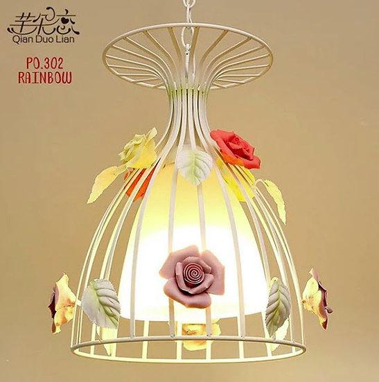 Hanging Lamp Dutch rose (PO302)