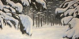 """Michael Lindas, """"Snow Forest"""""""