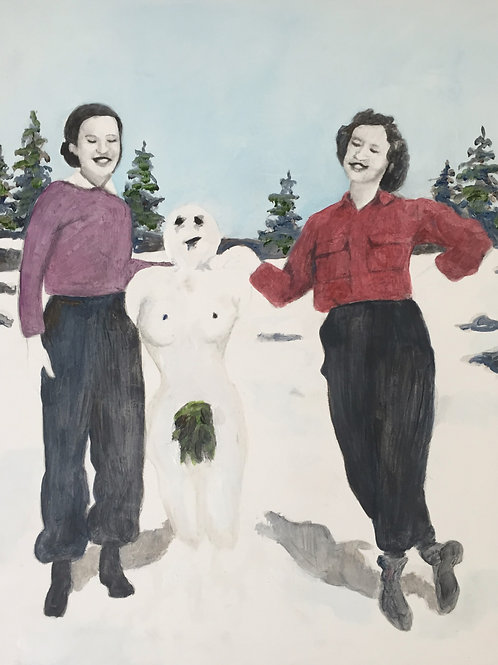 ORIGINAL Jane, Mary-Beth, and the Snow Woman, Spring 1948