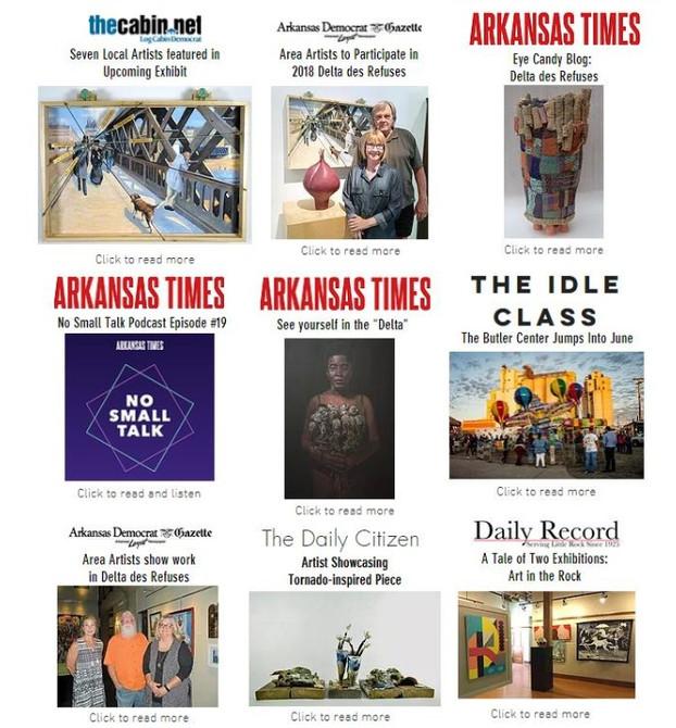 PRESS COVERS 2018 Delta des Refuses Exhibition