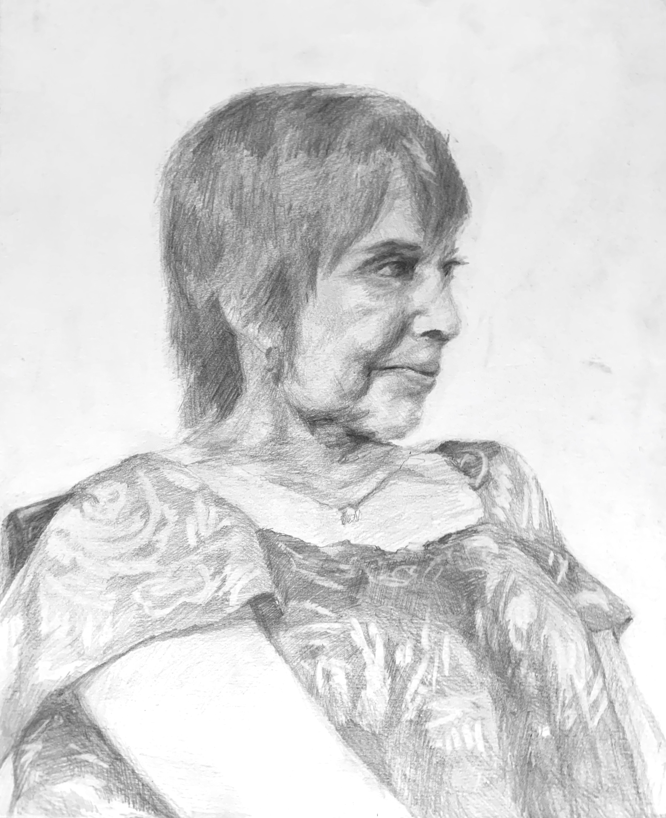 Study of Joan (from life), Graphite on Paper