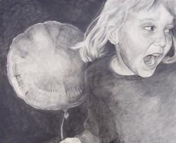 Hannah, Graphite on Primed Wooden Panel