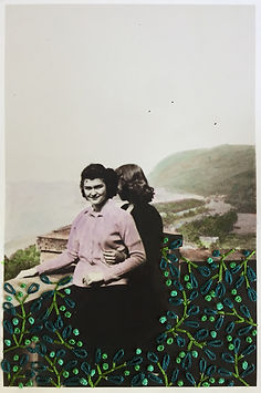 Overlook Overlooking, Hand embroidery an