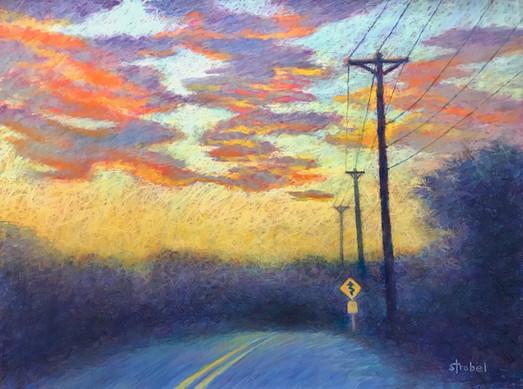 "Debbie Strobel, ""Sunset on Snake Hill"""
