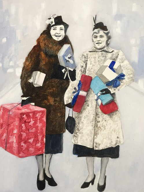 ORIGINAL Lily and June, Christmas Shopping 1955