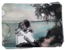 Lakeside, Ink on Layers of Silk