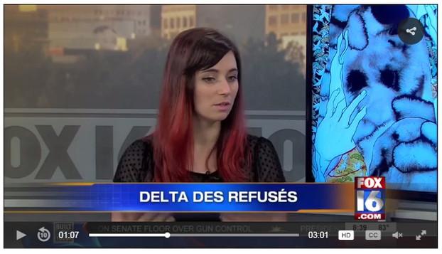 PRESS: Delta des Refusés Exhibition on Fox 16 News