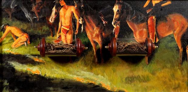 "James Volkert, ""Evidence (Fire) After Remington"""