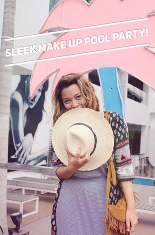 Sleek make up pool party