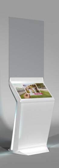 Glass Screen Digital Kiosk Concept