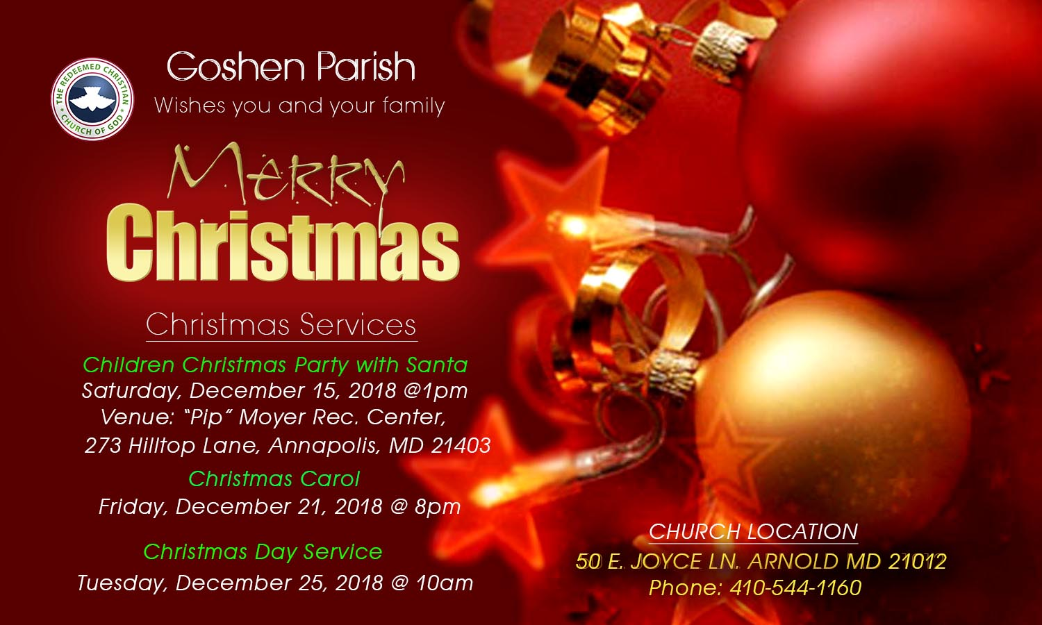 GOSHEN CHRISTMAS 2018 NEW