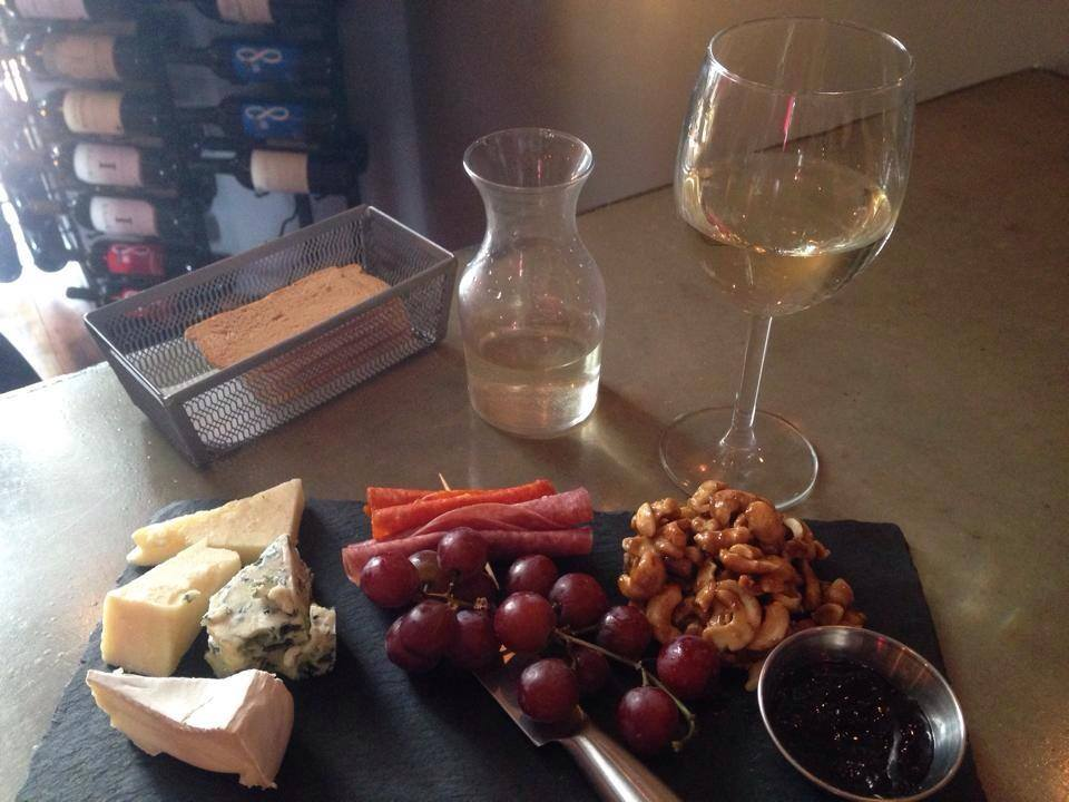 wine room cheese board