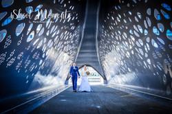 huwelijk in Antwerpen, fietsersbrug