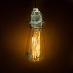 Er zit een vlieg aan de lamp.