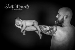 Baby bij papa