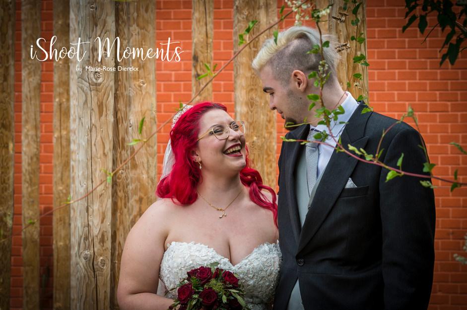 Huwelijksfotoshoot op locatie door iShoot Moments