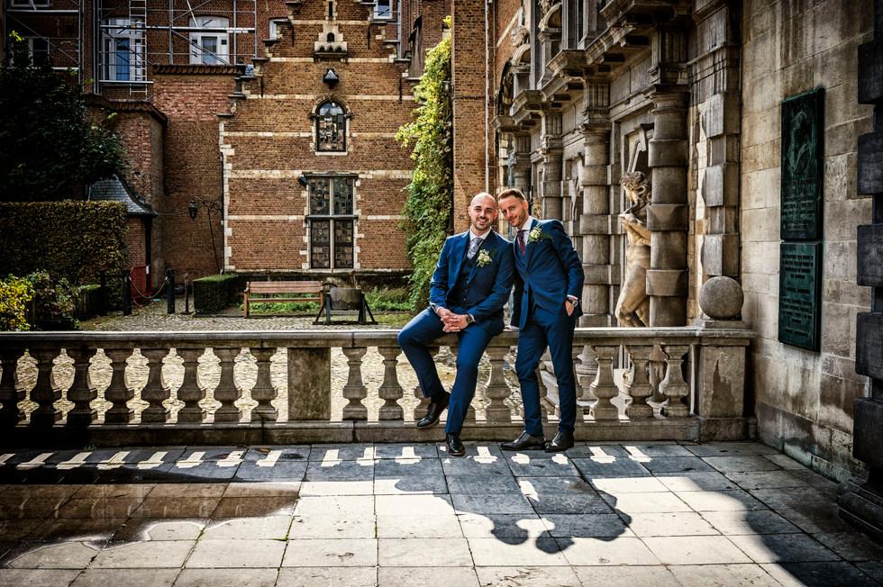 Huwelijksreportage, 2 mannen in Antwerpen in het Rubenshuis door iShoot Moments