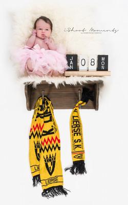 Baby en voetbal