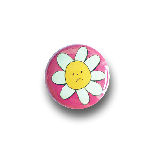 Sad Flower Badge