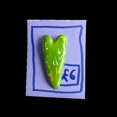 Slime Heart Pin