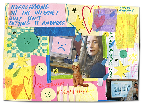 Oversharing On The Internet Collage