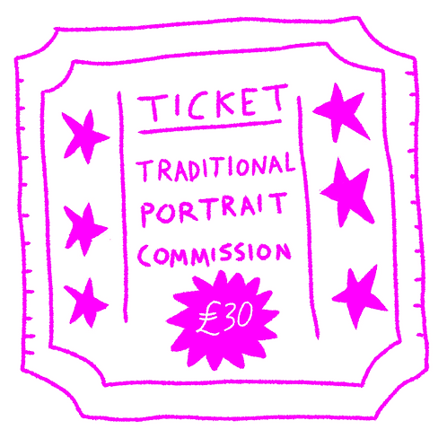 Traditional Portrait Commission Ticket
