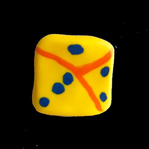 Yellow Dice Pin