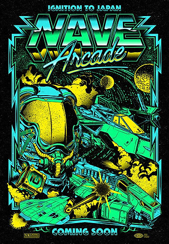 Poster NAVE Arcade IGNITION TO JAPA