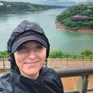 I finally got to wear my rain jacket! I