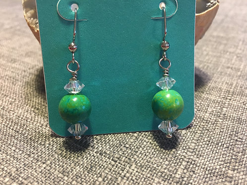 Green Howlite and Crystal
