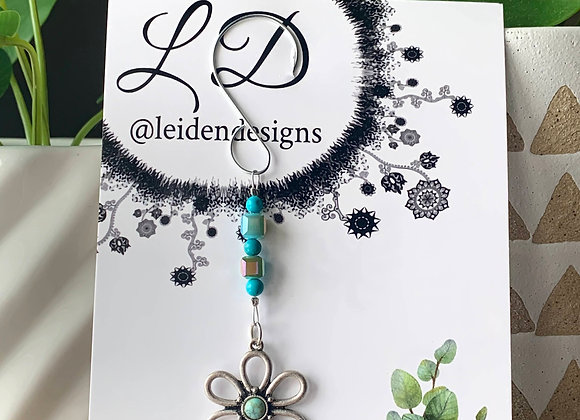 Plant Charm Turquoise Flower no.6